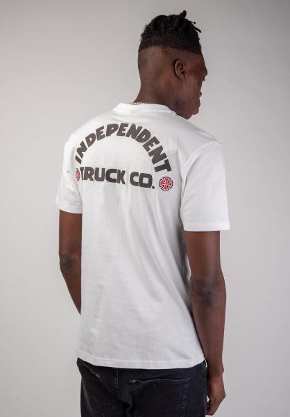Independent T-Shirts ITC Bold white vorderansicht 0399863