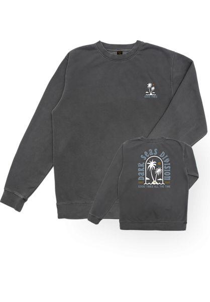 Dark Seas Sweatshirts und Pullover Oasis Pigment black vorderansicht 0422648