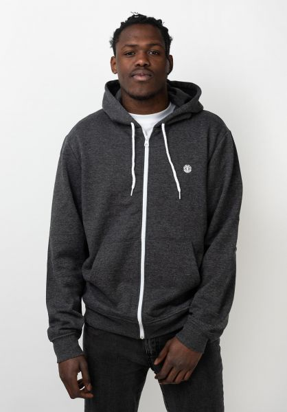 Element Zip-Hoodies Cornell charcoalheather-white vorderansicht 0454129