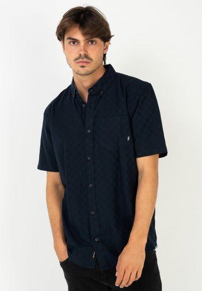 Vans Hemden kurzarm Beachwood black-dressblues vorderansicht 0400988