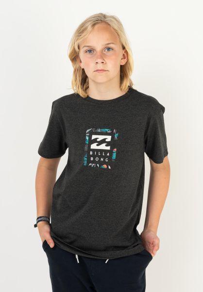 Billabong T-Shirts Unity Boy blackheather vorderansicht 0323816