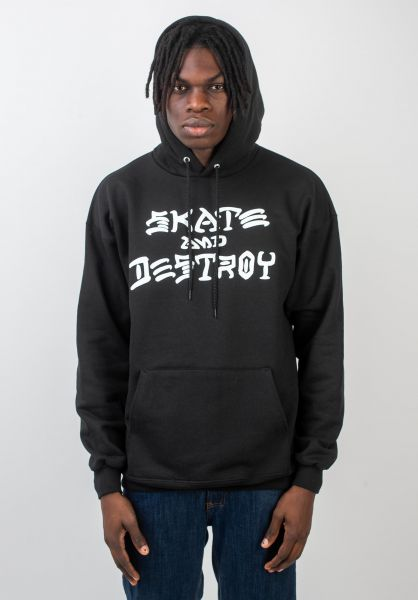 Thrasher Hoodies Skate and Destroy black vorderansicht 0440765