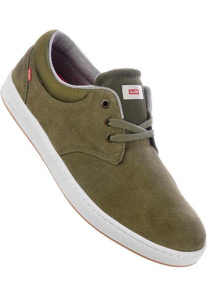 Globe Alle Schuhe Winslow SG stonegreen-white Vorderansicht