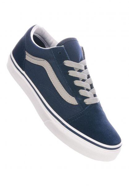 Vans Alle Schuhe Old Skool Kids dressbluedrizzle vorderansicht 0216057