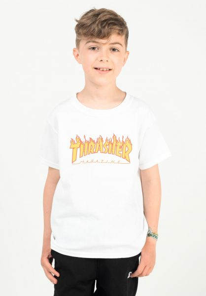 Thrasher T-Shirts Flame Kids white vorderansicht 0323205