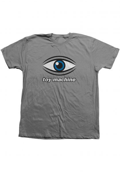 Toy-Machine T-Shirts Eye graphite vorderansicht 0322053