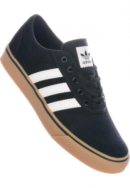 adidas-skateboarding Alle Schuhe Adi Ease black-white-gum vorderansicht 0603358