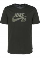 Nike SB T-Shirts DFT Icon Logo sequoia-mediumolve Vorderansicht