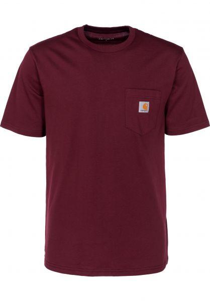 Carhartt WIP T-Shirts Pocket cranberry vorderansicht 0393365
