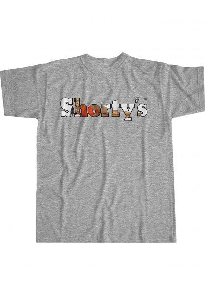 Shortys T-Shirts Rosa Long greymottled vorderansicht 0323885