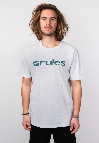 Rules T-Shirts Basic lightheathergrey vorderansicht 0365205