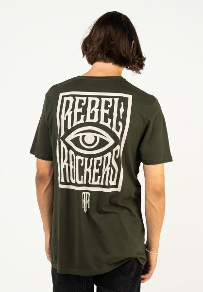 Rebel Rockers T-Shirts The Eye combatgreen vorderansicht 0324447