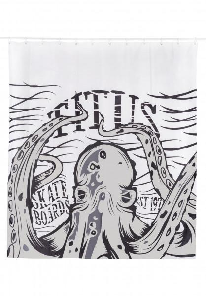 TITUS Verschiedenes Kraken Duschvorhang white Vorderansicht