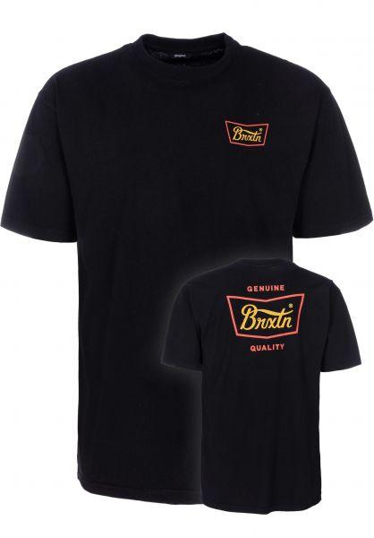 Brixton T-Shirts Stith black-gold vorderansicht 0399855