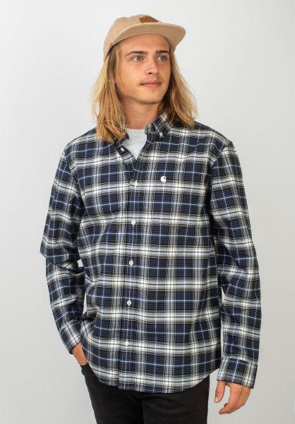 Carhartt WIP Hemden langarm Linville linvillecheck-blue-wax vorderansicht 0411949