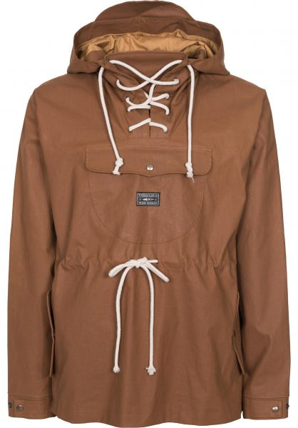 Turbokolor Windbreaker Straggler Smock brown Vorderansicht