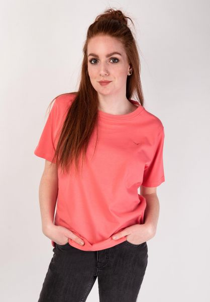 Cleptomanicx T-Shirts Ligull calypsocoral vorderansicht 0369030