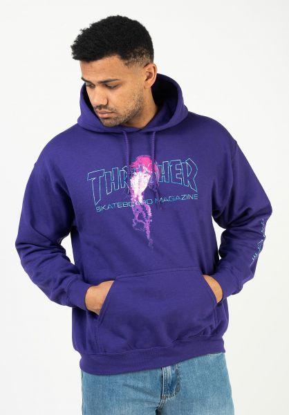 Thrasher Hoodies Atlantic Drift purple vorderansicht 0444781