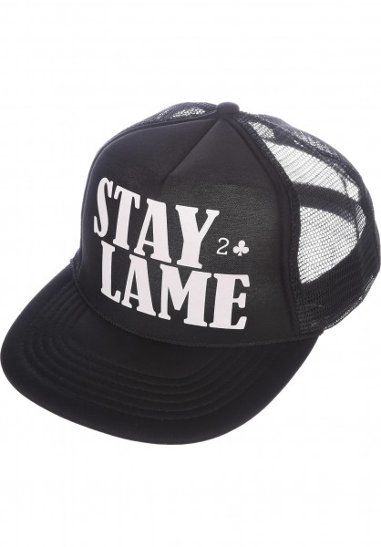 Lowcard Caps Mesh-Cap-Stay-Lame black Vorderansicht