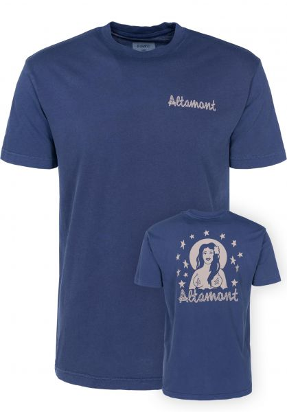 Altamont T-Shirts Island Girl midnight-wash Vorderansicht