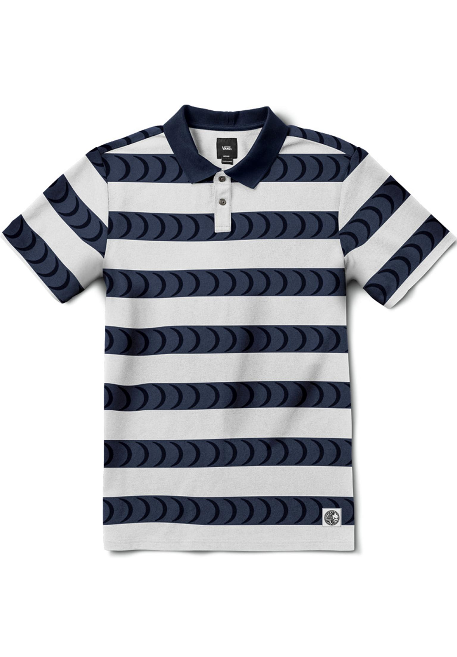 2875f38abd Vans x Spitfire Polo Vans Polo Shirts in white-dressblues for Men ...