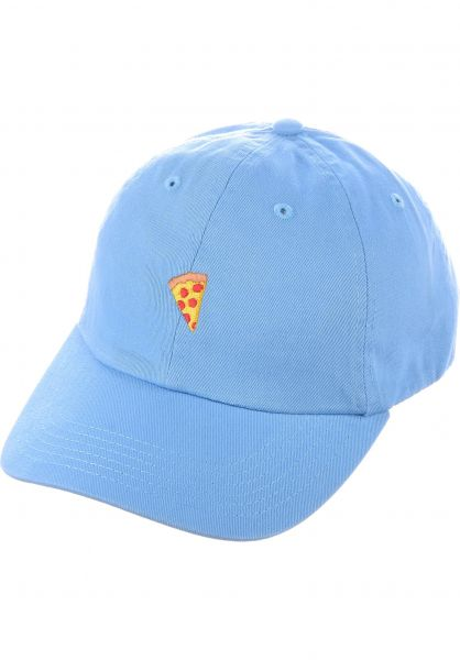 114685f65f5 Pizza Skateboards Caps Emoji Dad hat dyed blue Vorderansicht