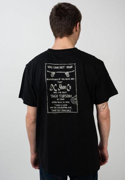 DC Shoes T-Shirts Taco Tuesday black vorderansicht 0321213