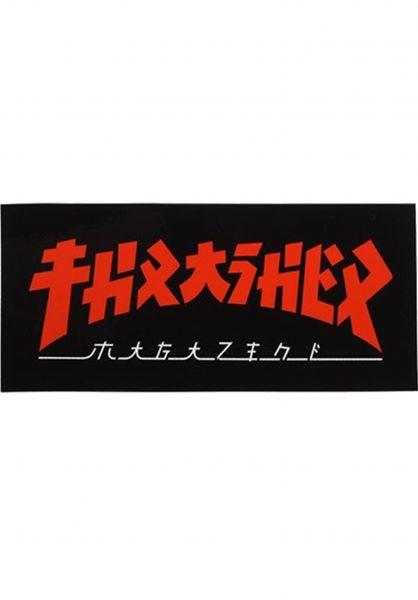 Thrasher Verschiedenes Godzilla Rectangle Sticker black-red vorderansicht 0972525