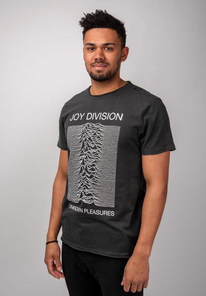 Amplified T-Shirts Joy Division Unknown Pleasures charcoal vorderansicht 0399944