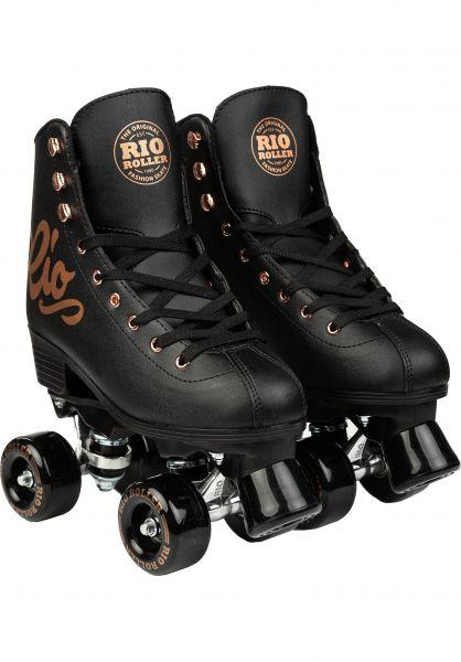Rio Roller Alle Schuhe Rose Rollschuhe / Rollerskates black vorderansicht 0612555