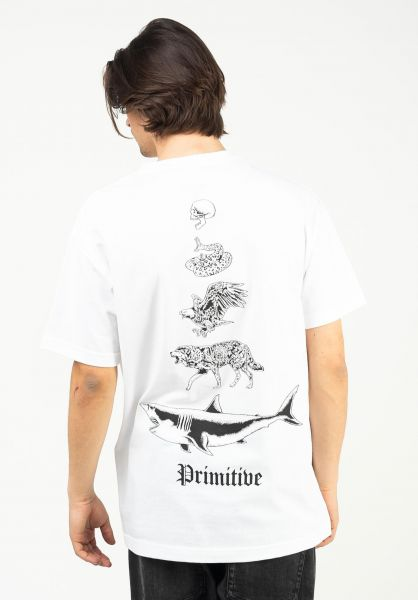 Primitive Skateboards T-Shirts Predators white vorderansicht 0323975
