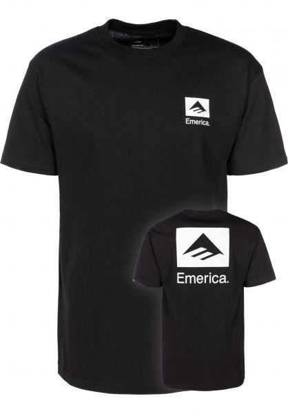 Emerica T-Shirts Brand Combo FW18 black vorderansicht 0399385