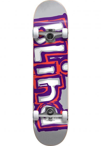 Blind Skateboard komplett Matte OG Logo grey-purple-red vorderansicht 0161140