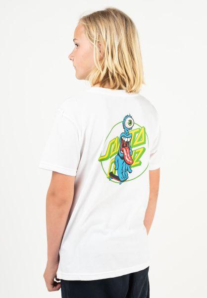 Santa-Cruz T-Shirts Youth Grip Dot white vorderansicht 0323320