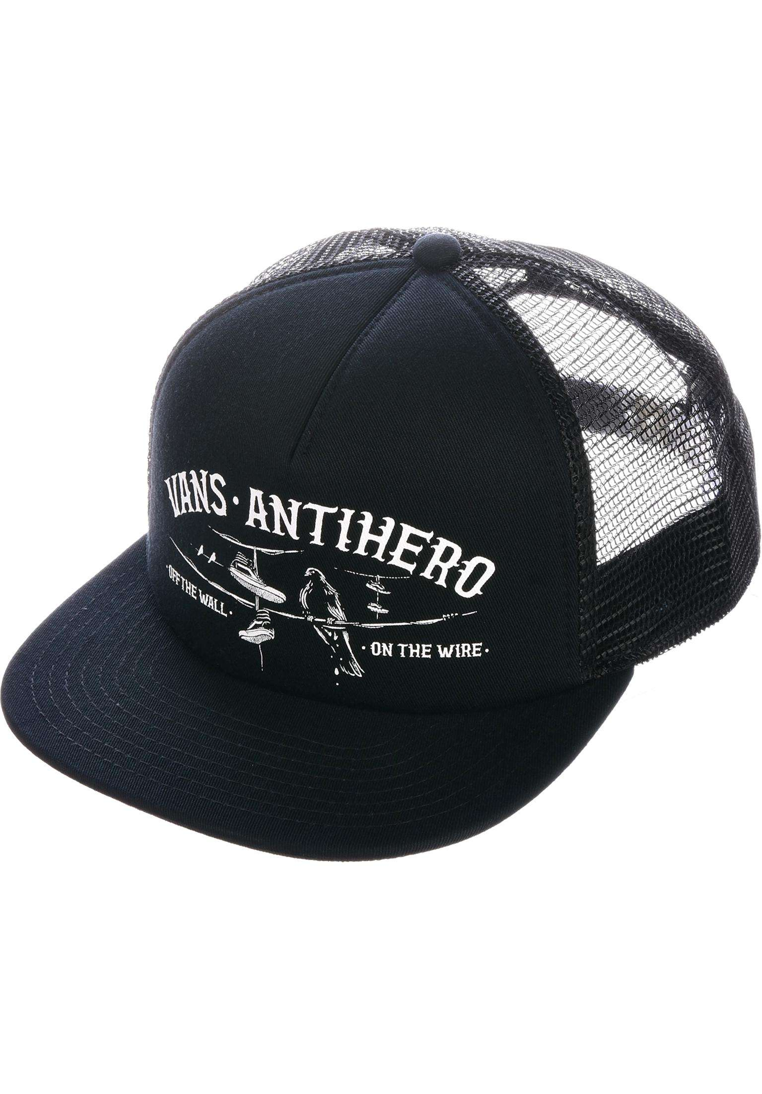 Vans x Anti x Anti Hero Wired Vans Caps in black-zinnia for Men  0a3e8f678116