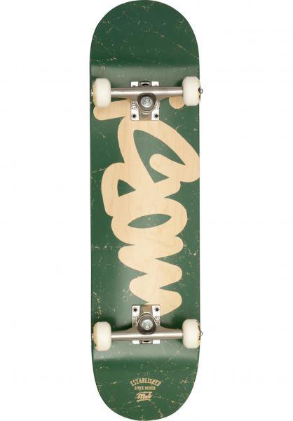 MOB-Skateboards Skateboard komplett Mob Tag green Vorderansicht
