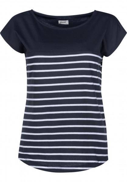 Forvert T-Shirts Newport navy-white Vorderansicht