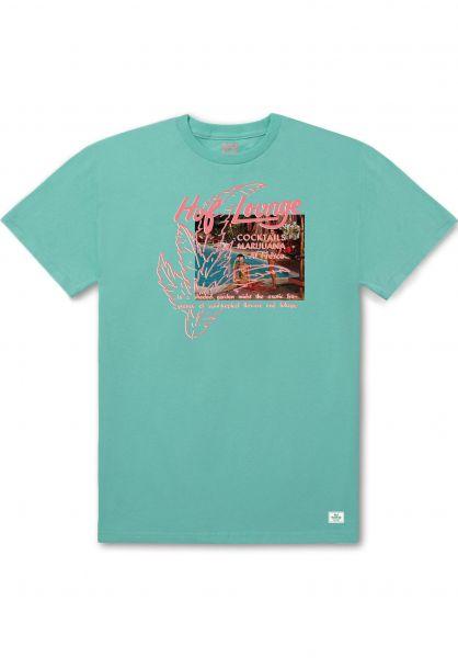 HUF T-Shirts Al Fresco mint Vorderansicht