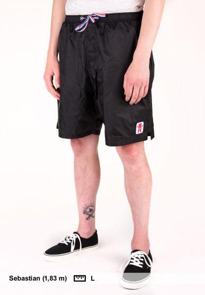 ES Shorts Backspin x Grizzly black Vorderansicht