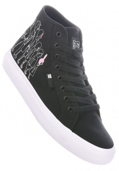 DC Shoes Alle Schuhe x Bobs Burgers Manual High black-white-pink vorderansicht 0604934