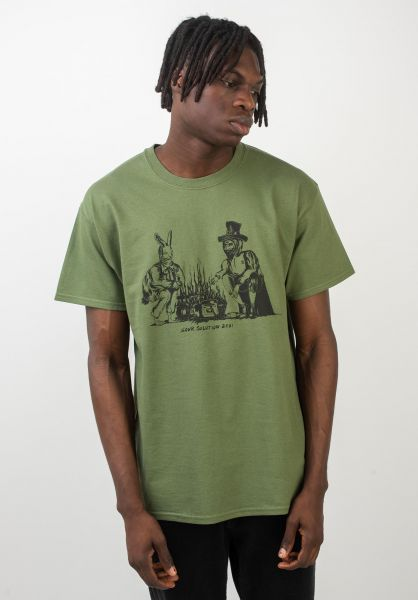 Sour Skateboards T-Shirts Sour Camp militarygreen vorderansicht 0320320
