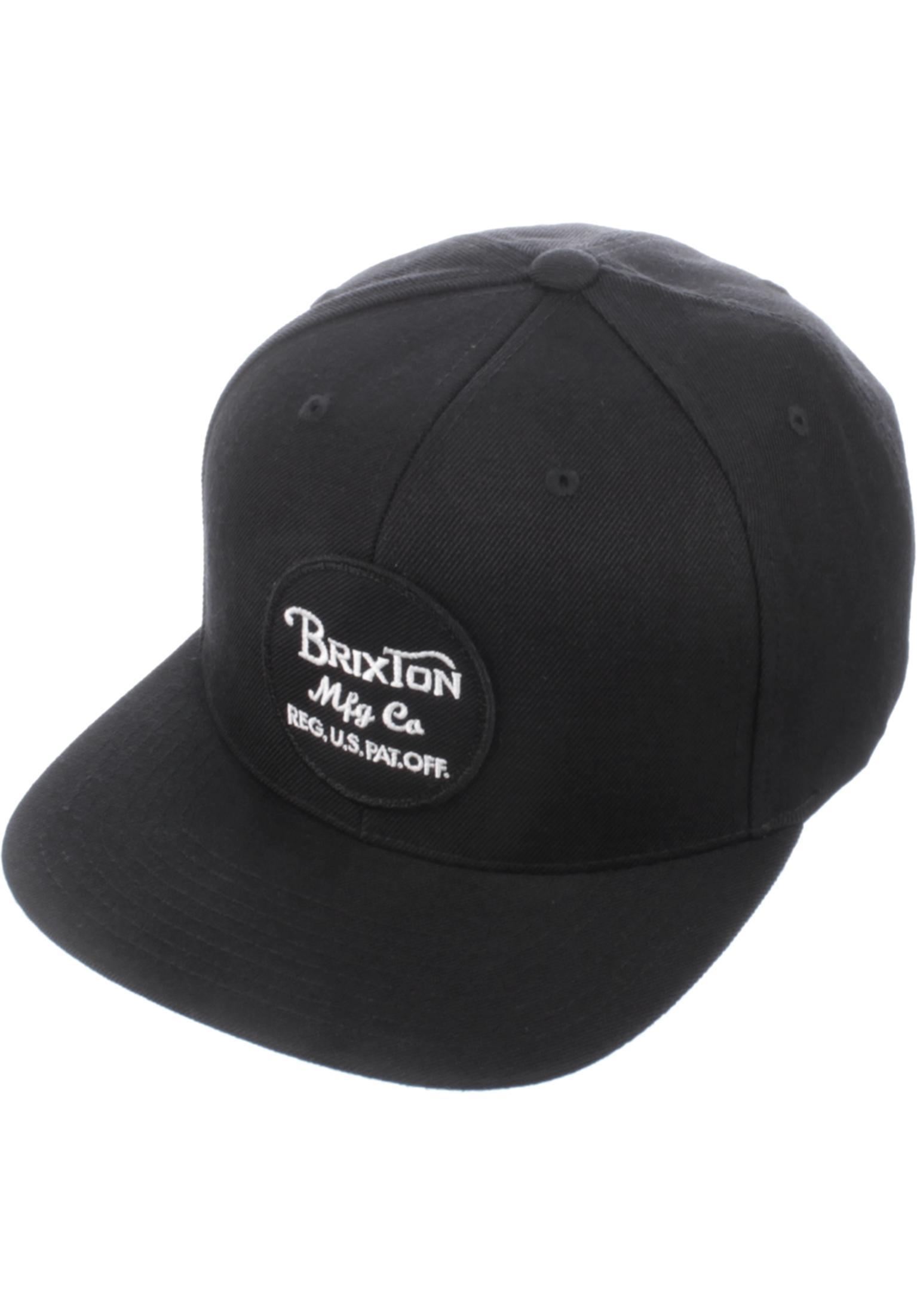 a9afeb0d1e9 Wheeler Brixton Caps in black for Men