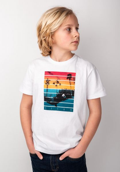TITUS T-Shirts Sunset Trick Kids white vorderansicht 0398388