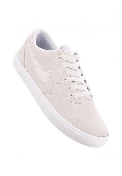 Nike SB Alle Schuhe Check Wmn vastgrey-white Vorderansicht
