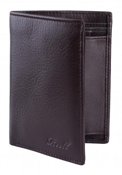 Reell Portemonnaie Trifold Zip brown Vorderansicht