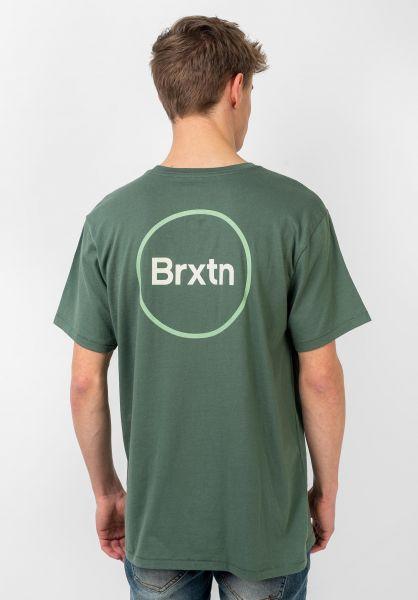 Brixton T-Shirts Gate IV cypress vorderansicht 0321482