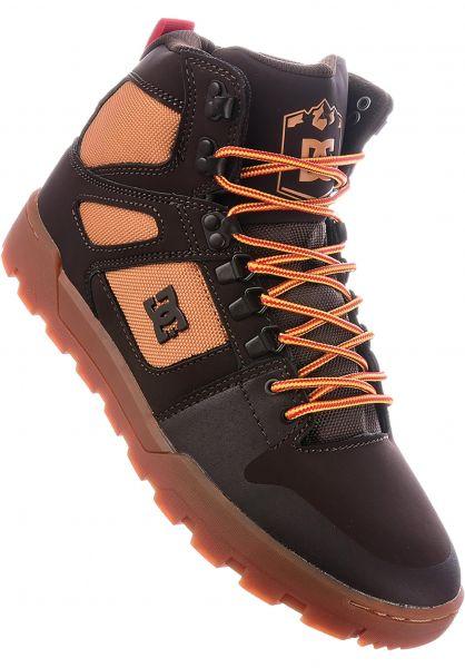 DC Shoes Alle Schuhe Pure HT WR Boot chocolatebrown Vorderansicht