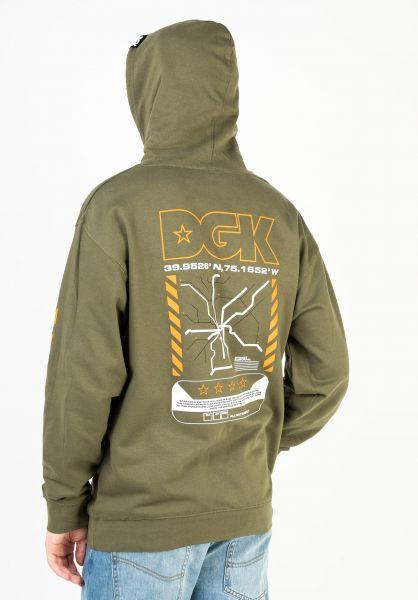 DGK Hoodies Transit Hooded Fleece militarygreen vorderansicht 0446315