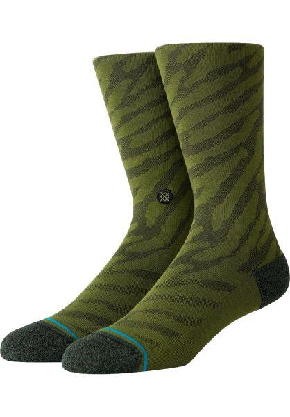 Stance Socken Eldrick olive vorderansicht 0632008