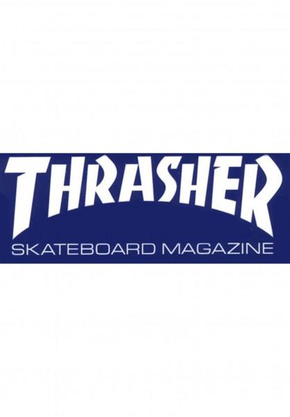 Thrasher Verschiedenes Skate Mag Super Sticker blue Vorderansicht